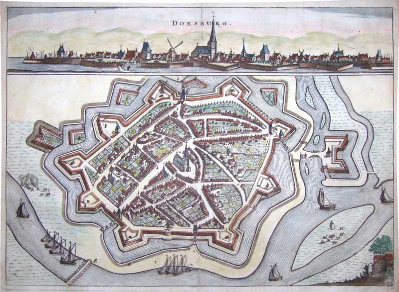 Doesburg plattegrond 1654